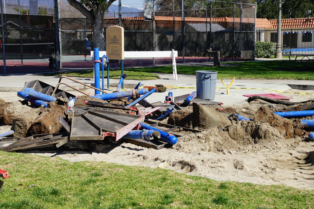 Public Works begins to deconstruct Smith Park playground