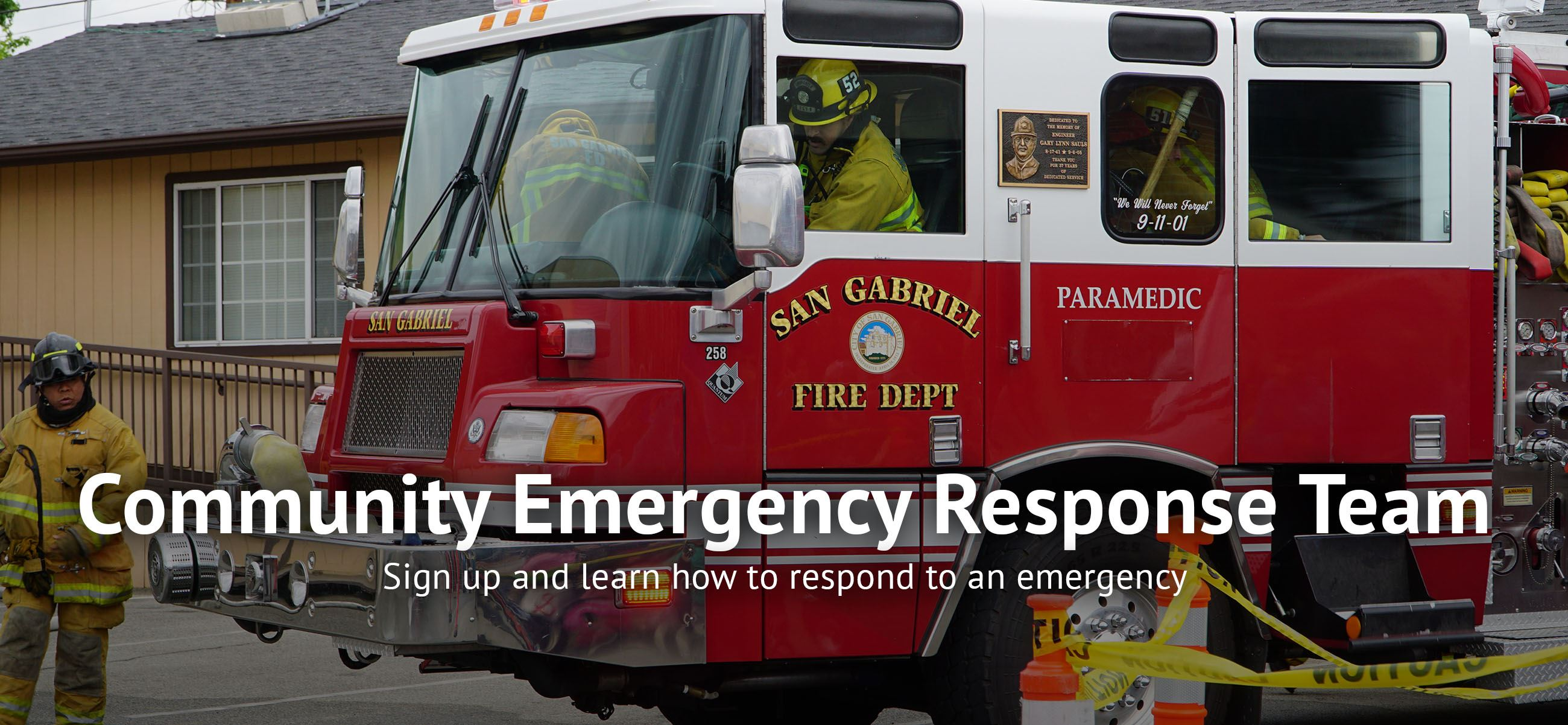 Sign up and learn how to respond to an emergency