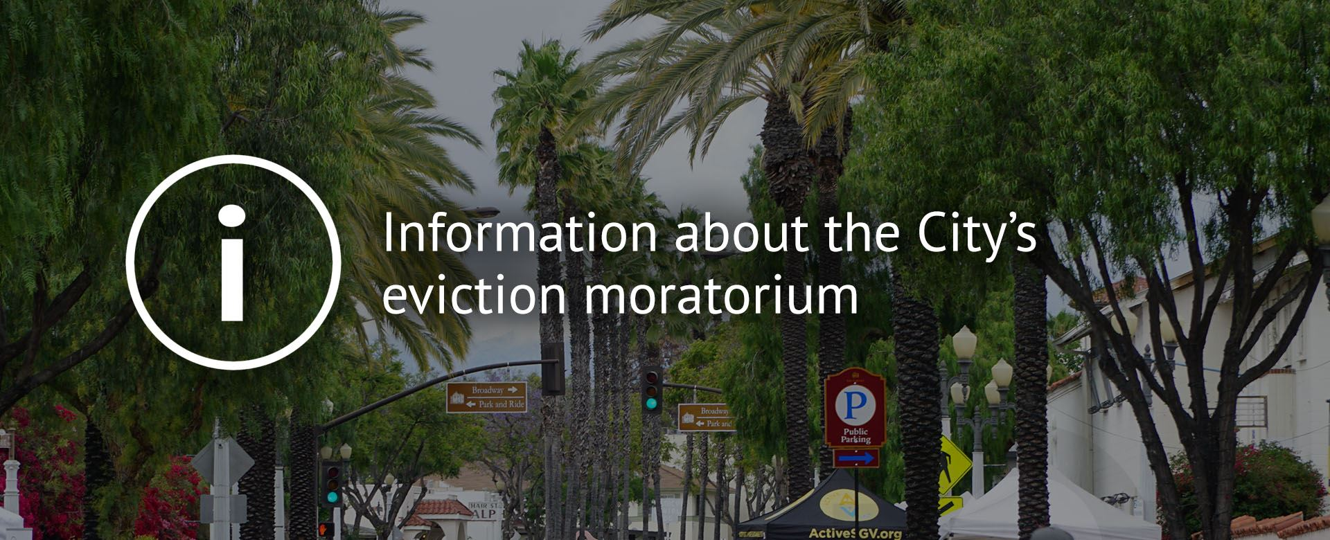 Information about the City's eviction moratorium