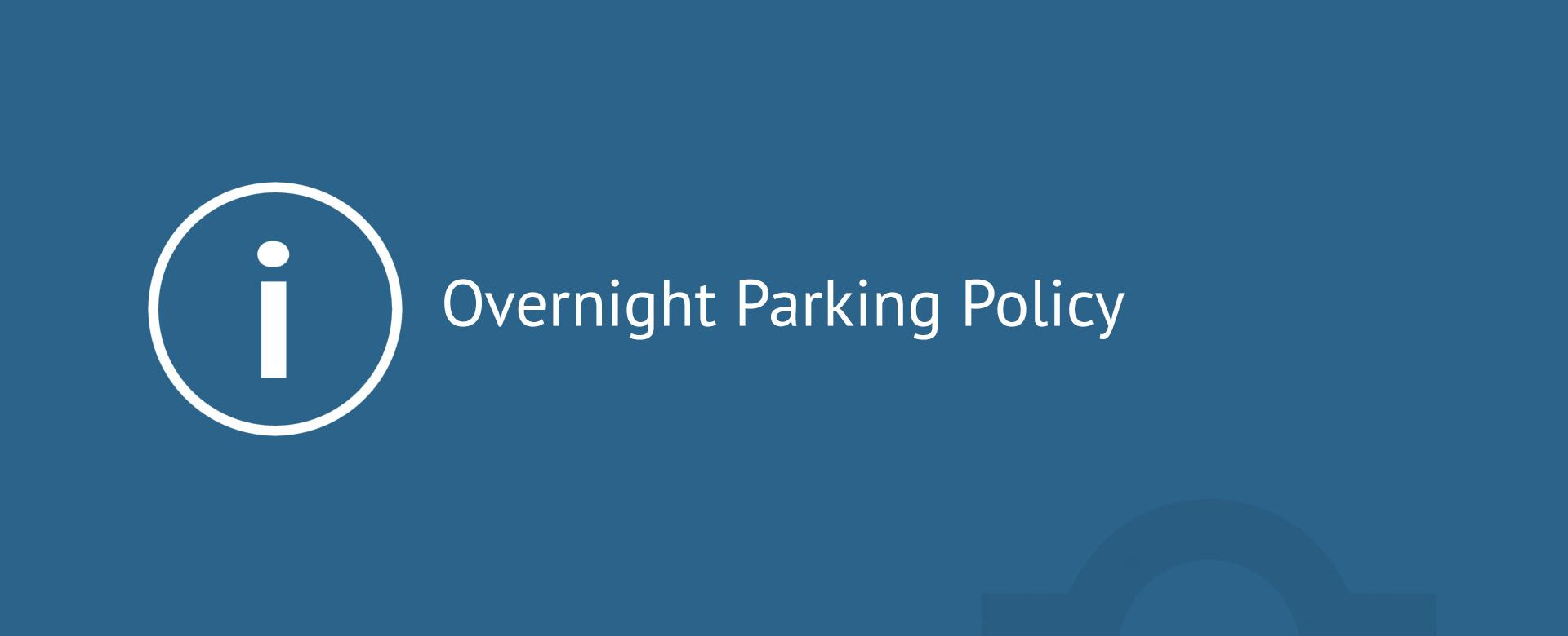 Overnight Parking Policy