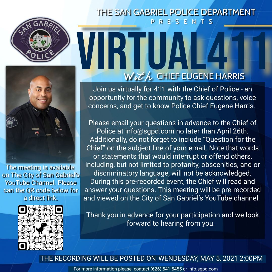 Virtual 411 With The Chief