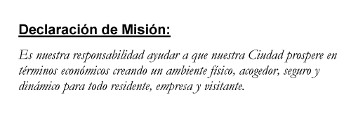 Mission Statement in Spanish