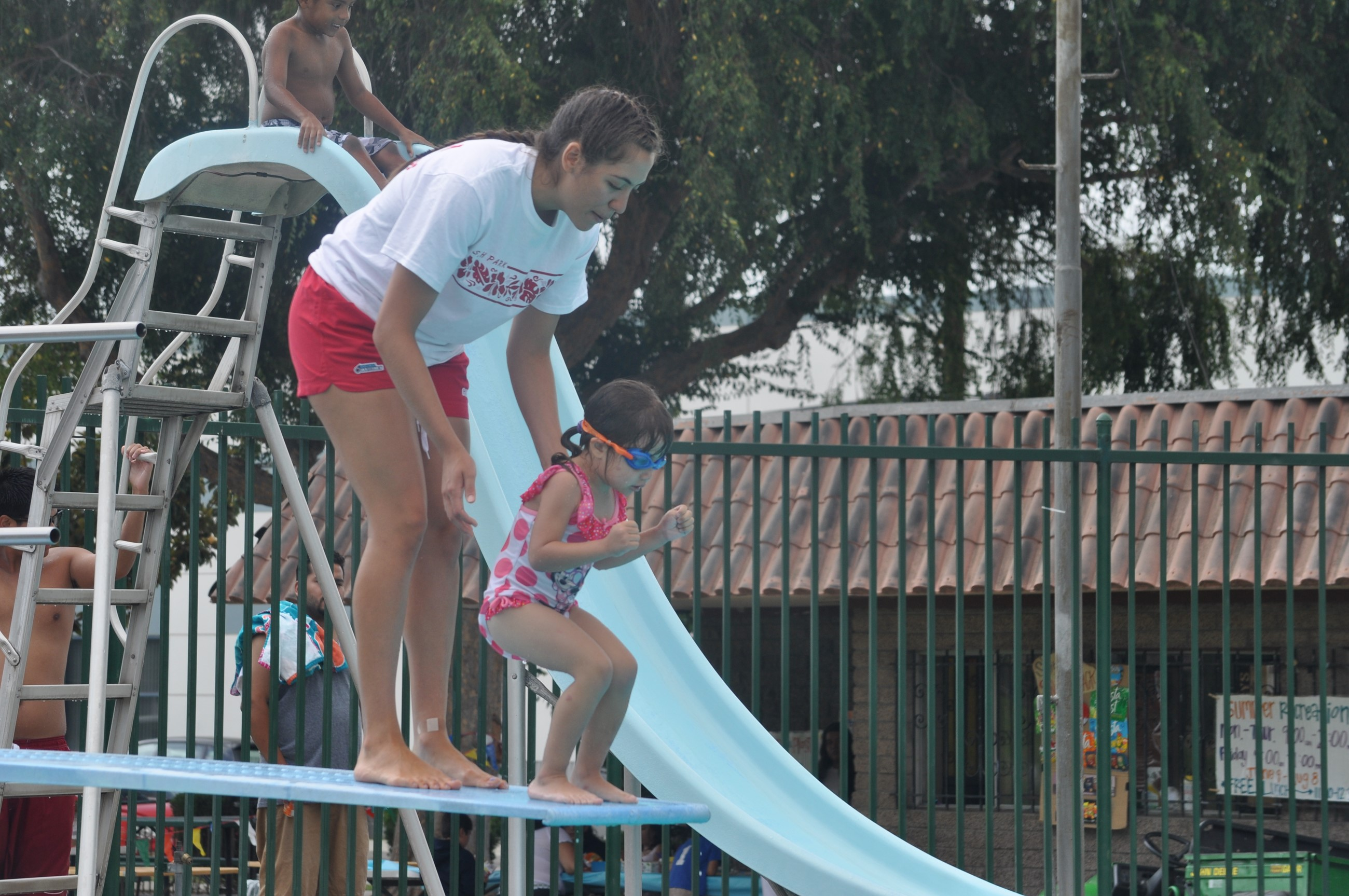 lifeguard swim lessons diving board san gabriel parks and recreation aquatics instructor water safety
