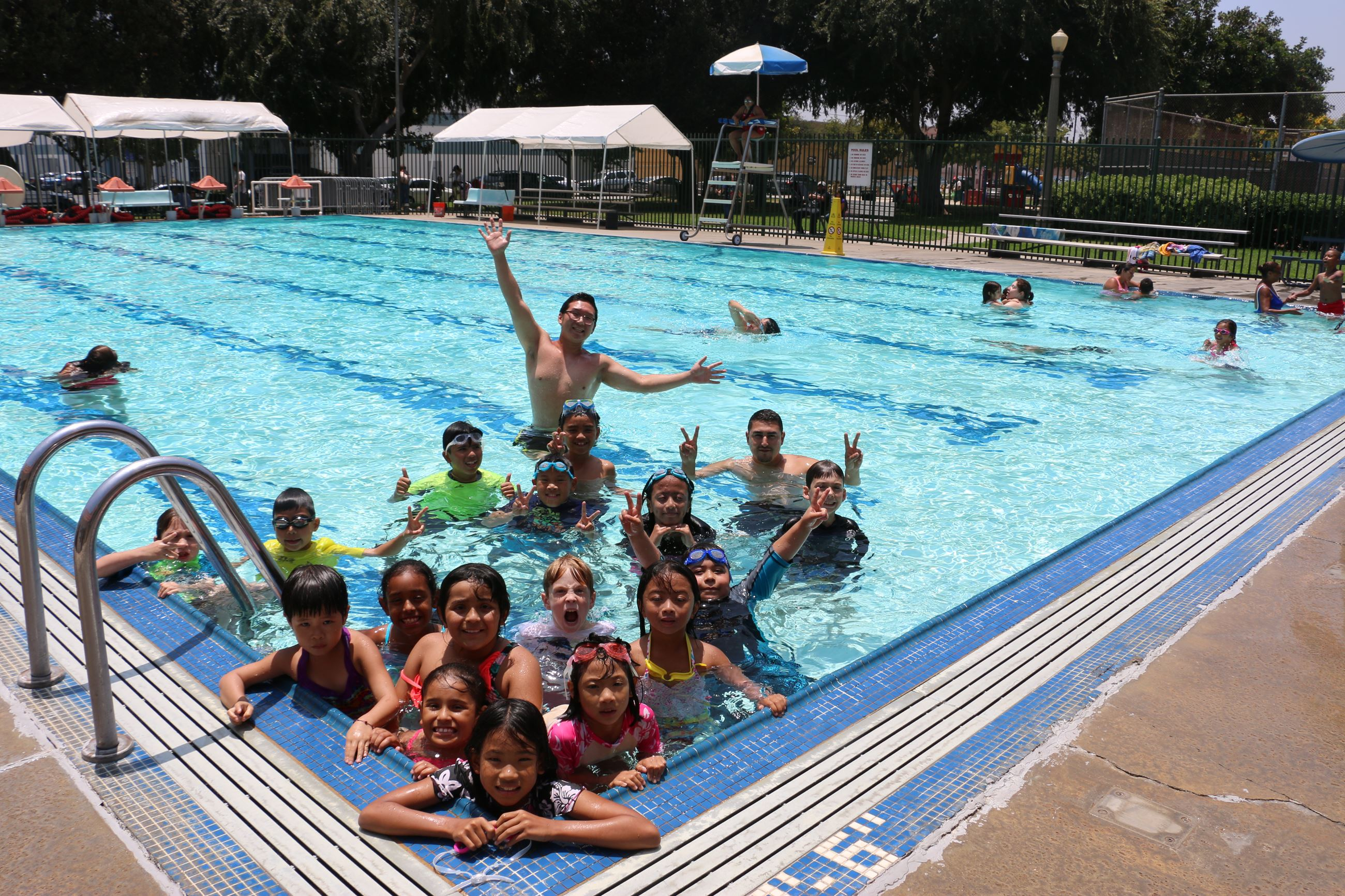 Summer Camp participants at Smith Park Pool