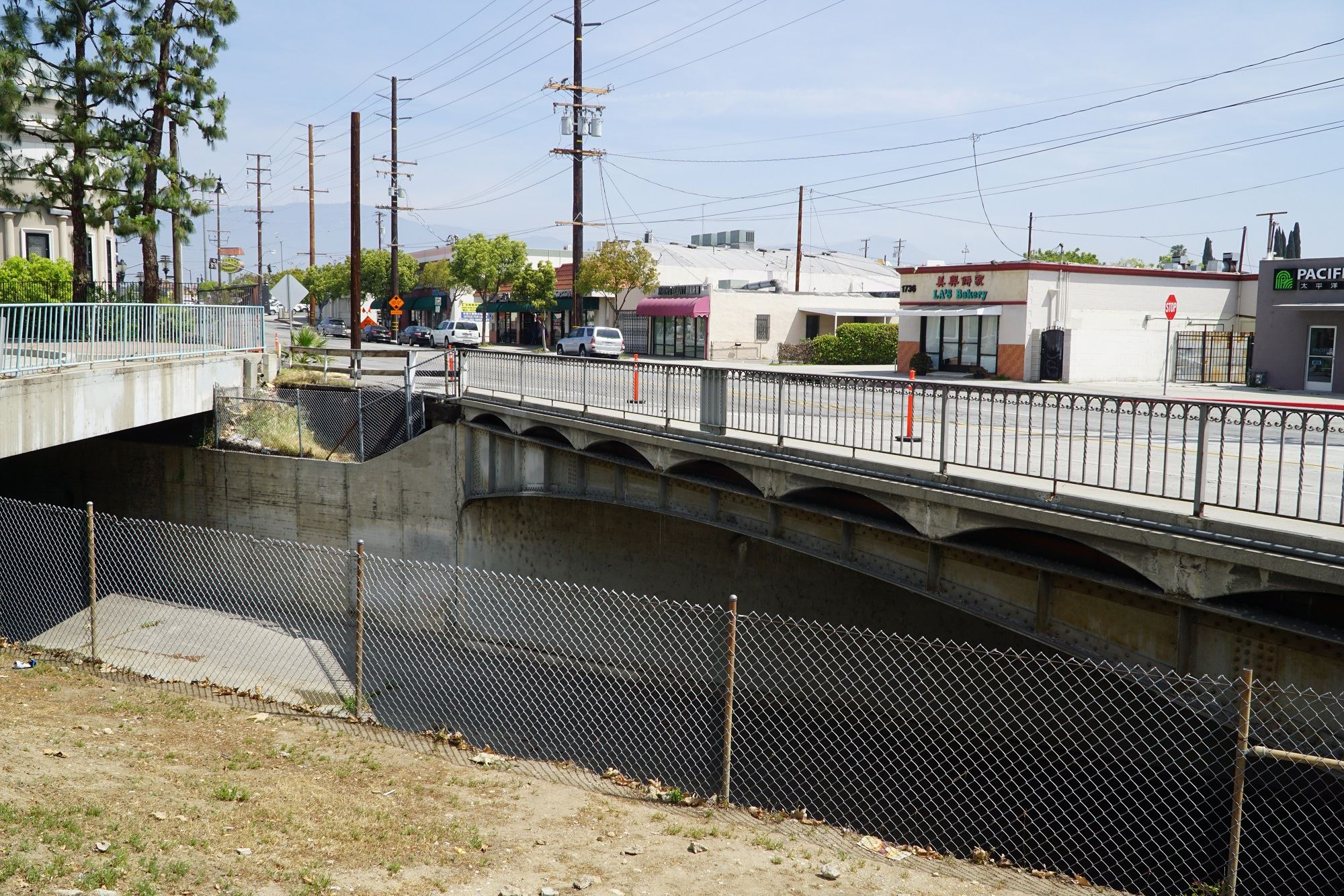 Roadway construction underway at the Alhambra Wash Bridge Replacement Project